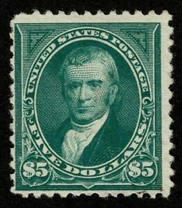 Scott#263 $5 John Marshall 1894 Mint No Gum