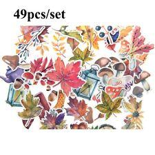 49 Autumn Leaf Sticker Die-cuts for bullet journal Decor Sticker Scrapbooking K6