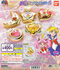 Sailor Moon Transformation Compact Mirror 2 Gashapon Eternal Moon Set of 5pcs