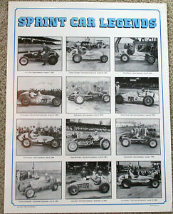 SPRINT CAR LEGENDS USAC AUTO RACING POSTER!