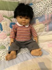 Cute Asian Baby Boy Doll Anatomically Correct In Excellent Condition