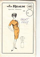 Sewing Pattern - WOMANS REALM - SKIRT ONLY - VINTAGE