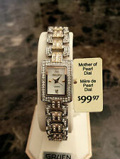 Wow!! Gruen Ladies Watch, gold color, mother of pearl, Free Shipping in NA!