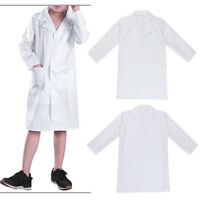 Kids Lab Coat Boys Girsl Doctor Fancy Dress Up Costume Nurse Medical Scientist