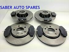 VAUXHALL VIVARO FRONT AND REAR BRAKE DISCS AND PADS INC BEARINGS + ABS 1040