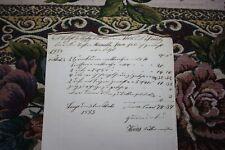 Dokumente r 34 / Rechnung 1853 Laage Heins Sattler