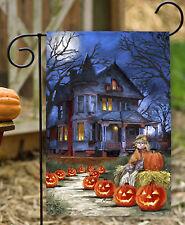 NEW Toland - Spooky Manor - Haunted Halloween Pumpkin Garden Flag