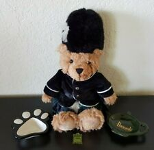 Harrods London Knightsbridge Stuffed Plush Bear Soldier+Pin +Tea Bag Holders