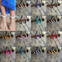 Handmade Crochet Cotton Barefoot Sandals Foot Anklet Bracelet Ankle Chain Beach