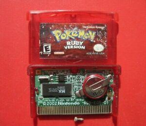 Pokemon: Ruby Version Game Boy Advance *Authentic & Battery Run Dry*