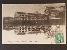 1912 French Indochina to Paris France Tonkin Barracks Legion RPPC Postcard Cover