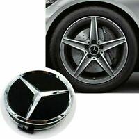 Nabendeckel Nabenkappen Felgendeckel Emblem für Mercedes Benz 75mm,4 Stück Q