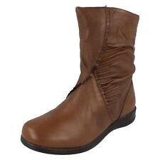 "Donna "" gluv Your Feet "" Stivaletti in pelle marrone - 1B20 / Perù"
