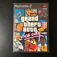 Grand Theft Auto Vice City Video Game (PlayStation PS2 2002) w/ Manual & Map CIB