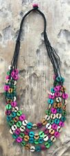 BOHO / LAGENLOOK 70'S VINTAGE STYLE MULTI STRAND STATEMENT NECKLACE - NEW STYLE