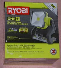 Ryobi One+ P720 18v Dual Power 20-Watt LED Work Light   NEW IN PKG!
