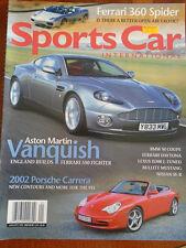 Sports Car International Jan 2002 Ferrari 360 Spider, 911 Carrera, Vanquish