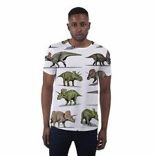 Dinosaurs Dino All Over Print Graphic Fashion Holiday Hipster Mens T Shirt