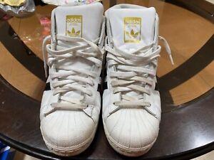 Adidas Originals Pro Model Superstar Gold Logo White Black Size US 10.5  S85956