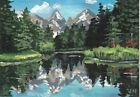 "aceo original acrylic ""Mirroring Lake"" by J. Hutson"