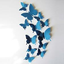 DIY 3D Wall Stickers Decal Butterflies Mirror Wall Art Beauty Home Decors N3