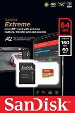 64 GB Micro SDXC UHS-3 160mb/s Speicherkarte mit SD-Adapter Sandisk Extreme