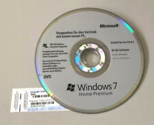 Microsoft Windows 7 Home Premium 64 Bit OEM DVD  CD + COA Product Key Schlüssel