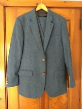 Blue Men's Wool 3 pcs Suit Custom Made Size Small