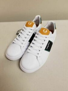 Fred Perry Unisex B721 Sneakers White Lace Up Low Top Leather Shoes US 12 New