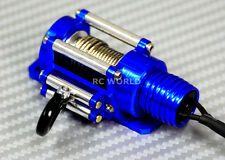 RC Scale Truck ELECTRIC WINCH W/ SWITCH Alloy Metal  Rock Crawler SCX10 BLUE