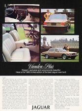 1983 Jaguar Xj6 Vanden Plas Limited Original Advertisement Print Art Car Ad H94
