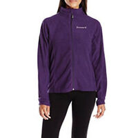 BEARPAW Women's Lightweight Zip Up Fleece Jacket 114W, Purple