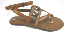 Jessica Simpson Size 6.5 Brown Leather Sandals New Womens Shoes