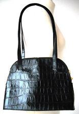 Unifarbene Damentaschen aus Kunstleder mit Innentasche (n) und Kroko-Prägung