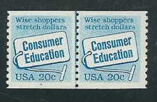 Scott # 2005...20 Cent....Consumer Education...Plate # 1-4...Pair