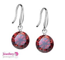 Cubic Zirconia Drop/Dangle Round Costume Earrings