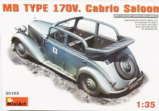 MINIART 1:35 KIT AUTO MILITARE TEDESCA MB TYPE 170V. CABRIO SALOON  ART 35103