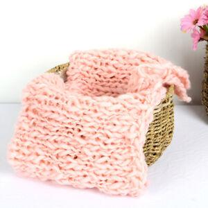 Newborn Studio Photography Props Baby Kids Square Blanket Background Knit Mat