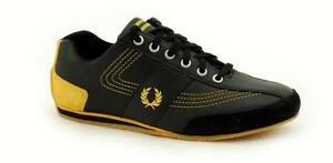 Fred Perry Black Bright Yellow B91280