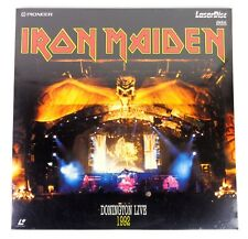 "iron maiden ""live in donington 1992"" laserdisc , pal, nuovo sigillato, saled"