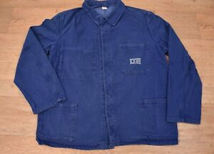 Vtg French EU Worker CHORE Work Shirt Jacket - Sz Large #819 HEAVY WEIGHT