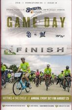 HITTING FOR THE CYCLE ON COVER MILWAUKEE BREWERS 2018 GAMEDAY PROGRAM ISSUE #19