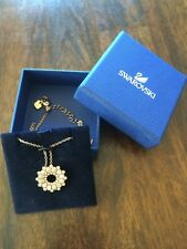 NIB Authentic Swarovski Rose Gold-Tone Crystal Pendant Necklace