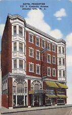 Atlantic City NJ~Hotel Princeton~Kentucky Avenue~Restaurant~1950 Linen Postcard