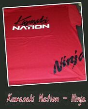 Quemando Brea Large Kawasaki Ninja T-Shirt Red