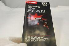Experience EOS ELAN camera lens Canon brochure guide catalog   7216065