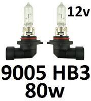 9005 HB3 12v 80W Globes suit Toyota Avensis Avalon Camry Corolla Hi Beam Lights