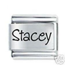 STACEY Nom 9mm Daisy Charm par JSC adapté à la taille classique Bracelet Italien