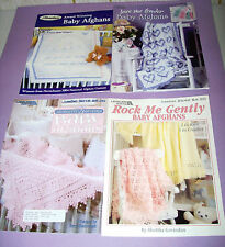 3 Baby Afghan Knitting Pattern Books - see pics & listing
