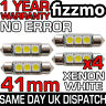 4x ERROR FREE CANBUS 3 SMD LED 41mm 264 C5W XENON WHITE NUMBER PLATE LIGHT BULB